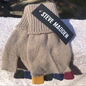 Steve Madden ColorBlocked Fingerless Gloves
